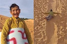 Cụ già 71 tuổi trượt cát ngoạn mục ở Mũi Né, đằng sau nụ cười lạc quan là câu chuyện buồn