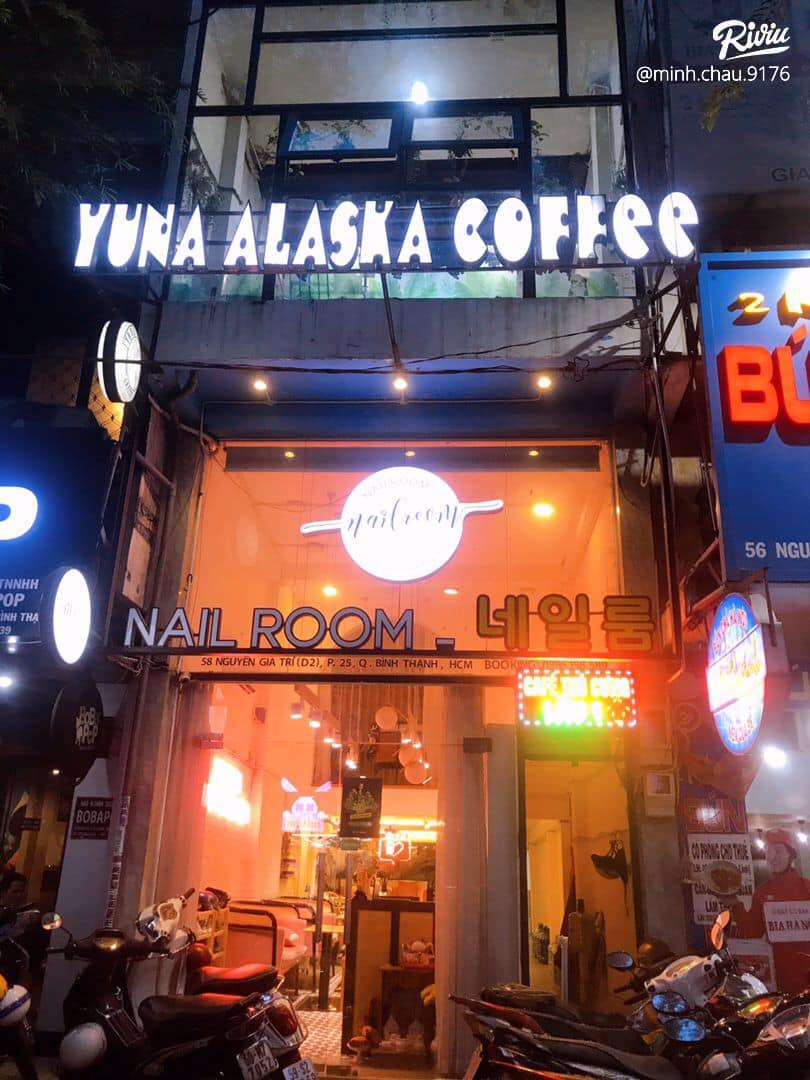 mặt tiền cafe thú cưng Yuna Alaska Coffee