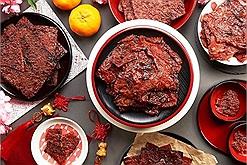 Học làm thịt heo khô Bak Kwa - món ăn ngon lai rai cả Tết