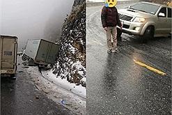 Sa Pa mới có tuyết, đã có du khách gặp tai nạn trên đường lên, ai đi nhớ chú ý