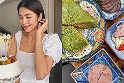 Ăn Tết: Đón Tết sớm như Tăng Thanh Hà với mâm cơm truyền thống đủ bánh chưng, giò nạc, củ kiệu,...