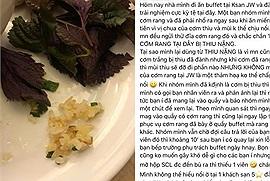 Khách sạn 5 sao đắt đỏ nhất Hà Nội bị tố phục vụ cơm thiu, tặng khách chocolate ăn dở