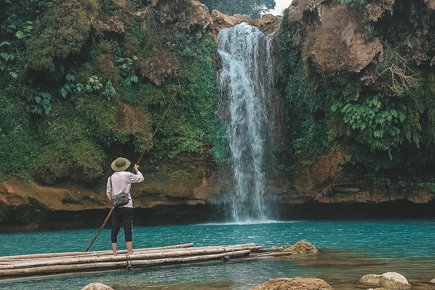 check in tại thác Chiềng Khoa 7 TÀNG