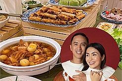 Quên những mâm cỗ đĩa xôi con gà đi, cỗ là phải tiệc buffet phá cách như Hà Tăng đây này