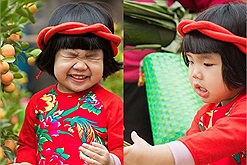 """Đi chợ Tết chụp ảnh mà nhí nhố như cô bé """"Thái Bình quê em"""" này thì cả năm cười phớ lớ"""