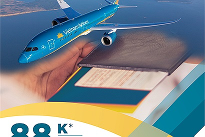 Lì xì năm mới vé máy bay giá chỉ 5 chữ số từ Vietnam Airlines dành tặng những tín đồ xê dịch đây