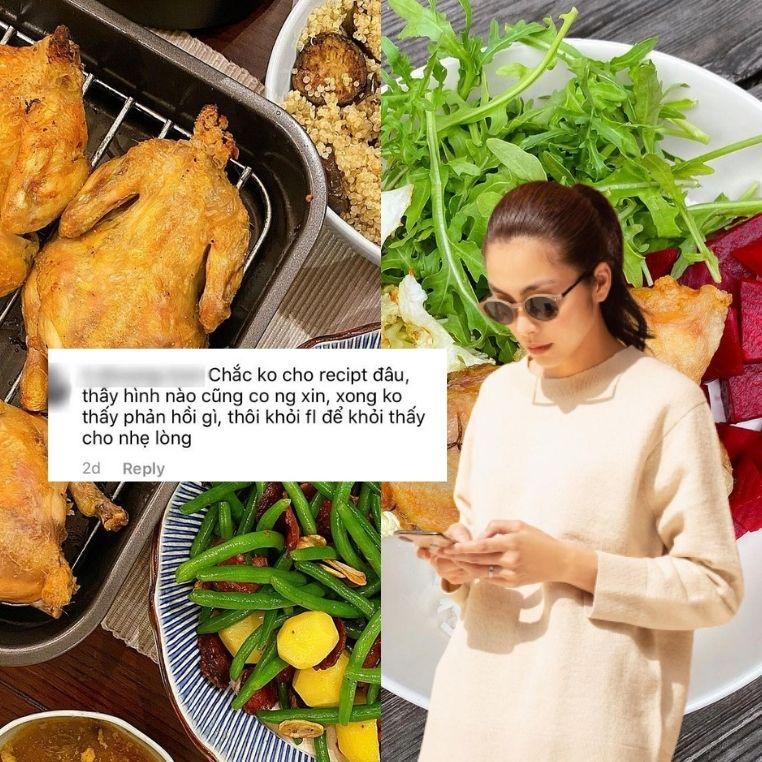 Nấu ăn ngon nhưng lại lười chia sẻ công thức nấu ăn, Hà Tăng bị fan tuyên bố unfollow