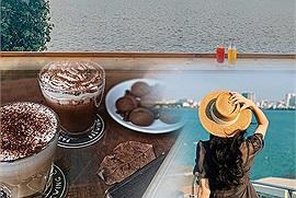 1001 quán cafe view hồ Tây chẳng cần phải chạy xe vòng vòng mà vân thu trọn hồ Tây vào đôi mắt