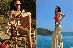 Nhìn Cô em trendy diện đồ bơi quyến rũ, tung tăng bắt còng trên bãi biển lại muốn đi Phú Yên ngay lập tức