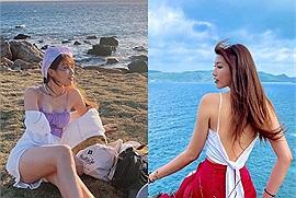 """Có phải """"bạn gái Tuấn Trần"""" đây không, khoe ảnh du lịch Côn Đảo mà mọi người chỉ nhìn body"""