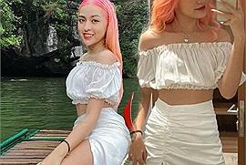 """Tưởng đi Ninh Bình được tấm ảnh đẹp với mái tóc bồng bềnh, kết quả của hot girl """"trứng rán cần mỡ"""" lại cay đắng"""