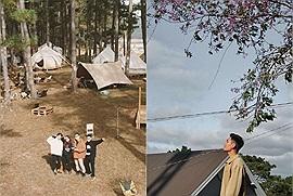 Lên Đà Lạt ai còn đi tour nữa, trend bây giờ là rủ bạn bè đi camping, glamping như travel vlogger Hà Mạnh cơ