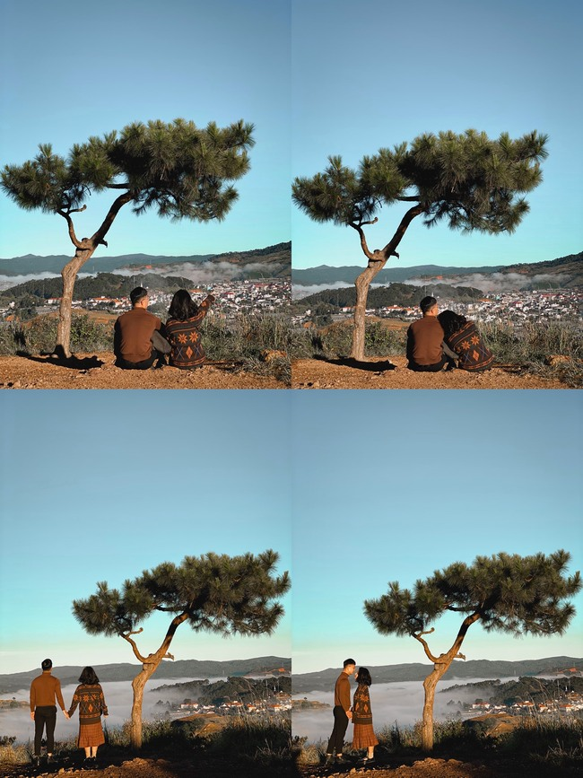 Chụp ảnh đôi tại đồi Thiên Phúc Đức Đà Lạt