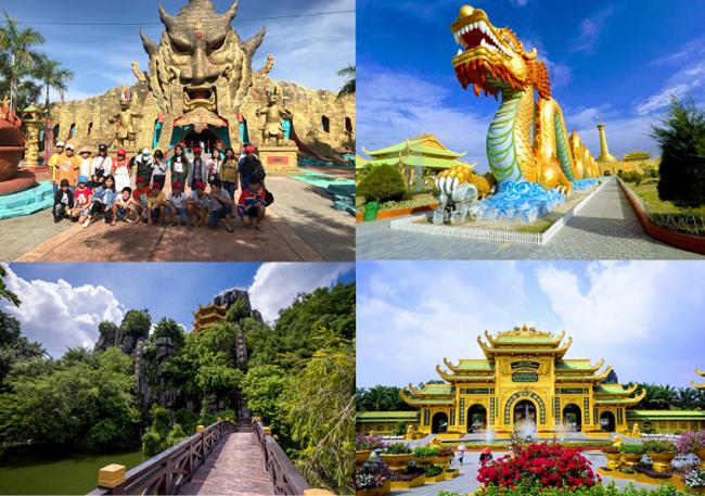 Các địa điểm tham quan trong khu du lịch Đại Nam