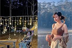 Bà Tưng Huyền Anh du lịch Đà Lạt: trải nghiệm cắm trại trong rừng, săn mây và chờ bình minh lên