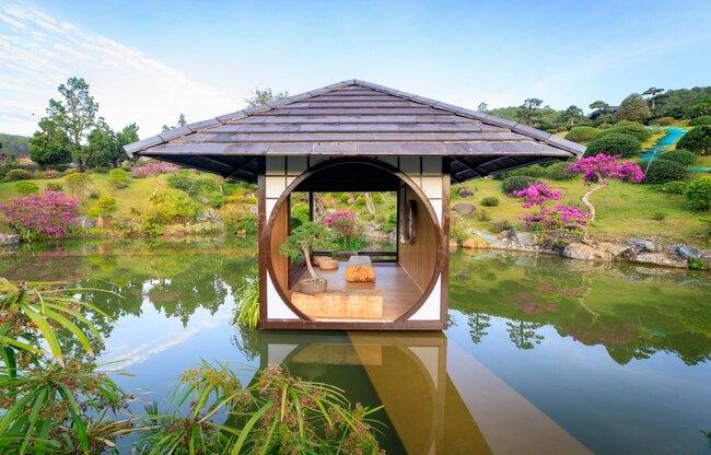 nhà nổi trên nước tại guê garden