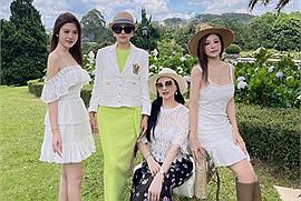 """Đại gia đình Huyền Baby đi nghỉ dưỡng ở khu resort """"châu Âu giữa lòng Đà Lạt"""", fan không phân biệt nổi ai mẹ, ai con"""