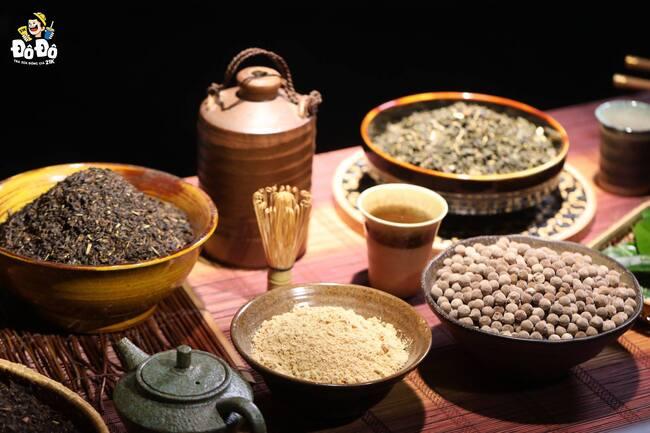 nguyên liệu làm ra trà sữa mochi kéo dài