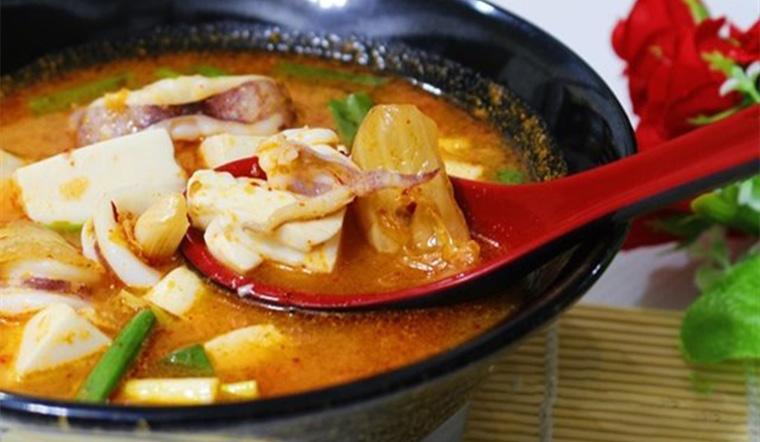 Canh ngao kim chi tía tô biến tấu cực lạ