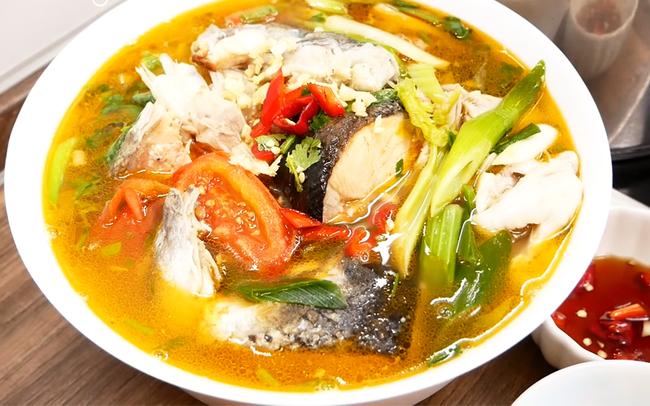 canh chua cá hồi tốt cho tim mạch