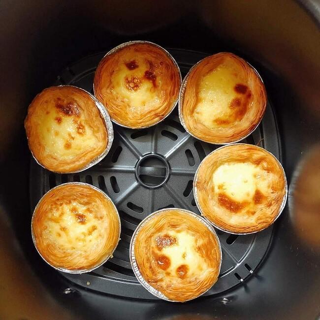 bánh tart trứng đơn giản với nồi chiên không dầu