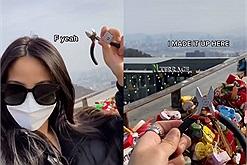 Sau chia tay, cô gái vượt gần 10.000 km từ Mỹ về Hàn Quốc để cắt ổ khóa tình yêu với người yêu cũ