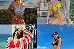 Nằm nhà ngắm hội mỹ nhân Vbiz khoe ảnh đi chơi mà phát thèm, biển xanh nắng vàng, bikini chói lọi