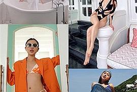 Diễm My 9X diện bikini 'sống ảo' đủ góc trong resort xịn xò nhất Phú Quốc, thật tình cờ Tú Hảo cũng mới check in ở đây