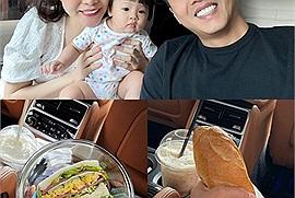 Soi bữa ăn 'take away' đặc biệt mùa dịch của Cường Đôla, vợ đảm Đàm Thu Trang tự tay làm cứ gọi là đỉnh của chóp!
