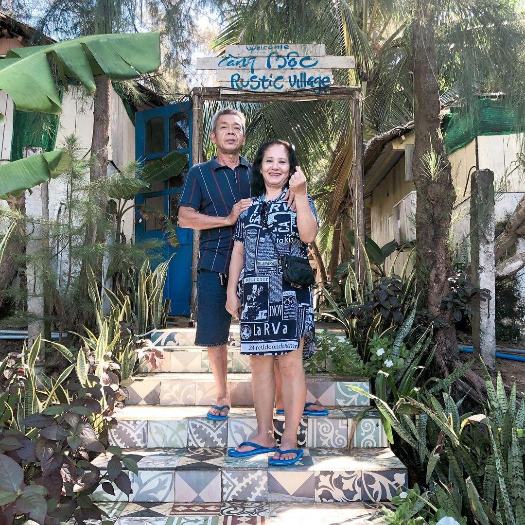 Bức ảnh Hồng Duy chụp cho bố mẹ trong chuyến du lịch cùng gia đình