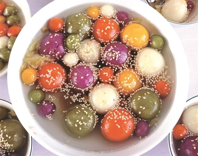 chè trôi nước món ăn truyền thống tết đoan ngọ