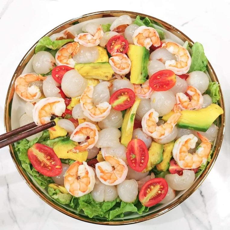salad vải tôm