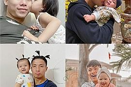 """Dàn nam thần tuyển Việt Nam nhập vai bố bỉm sữa cực ngọt: trên sân là """"cá mập"""", ở nhà cũng chỉ là """"cá con"""" thôi"""