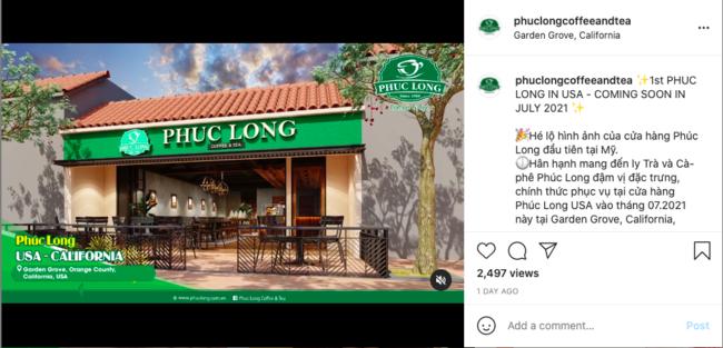 Phúc Long - thương hiệu đồ uống Việt Nam mở cửa hàng mới tại Mỹ