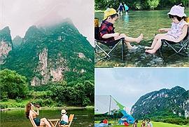Chẳng cần đi đâu xa cách Hà Nội 80km thôi nhưng trải nghiệm cắm trại ở sông Bôi cũng thú vị không kém những tọa độ cắm trại nổi tiếng đâu