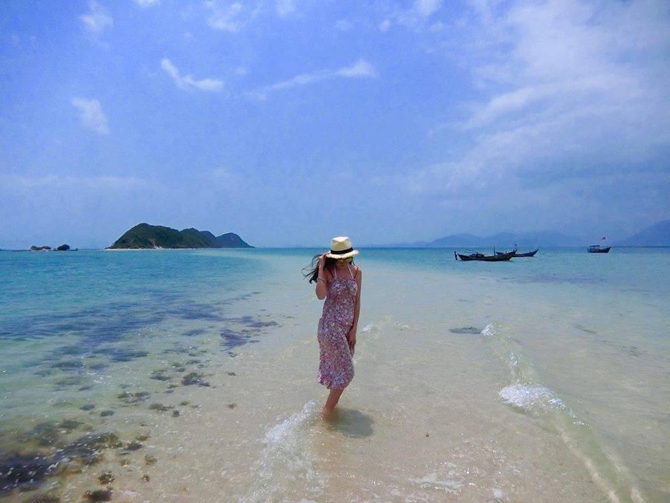 con đường giữa biển ở Nhất Tự Sơn