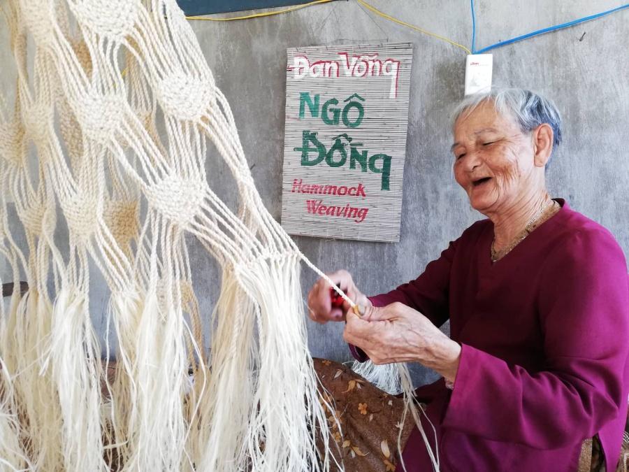 Độc đáo nghề đan võng Ngô Đồng truyền thống tại đảo Lý Sơn