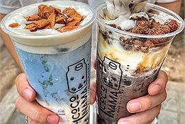 Coco Nama Tea Bar - quán đồ uống ngon vừa đến Hà Nội đã hot hit với món trà sữa bóng đêm và trà sữa đậu biếc có 1-0-2