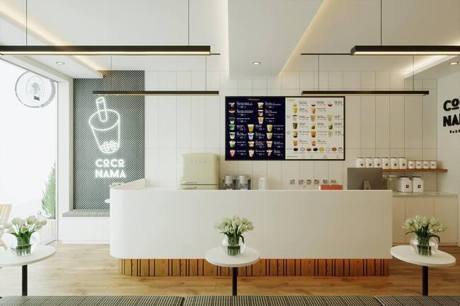 không gian quán coco nama tea bar