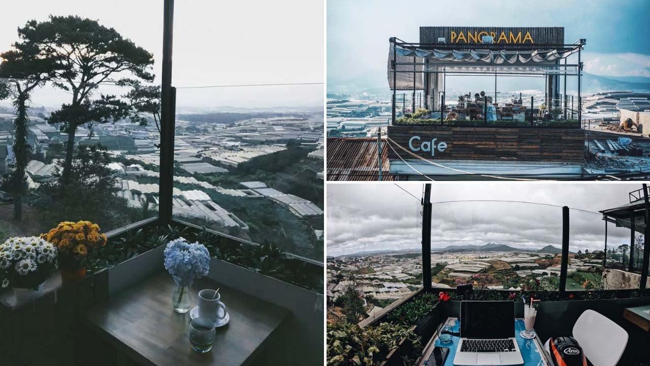 Với chiếc view của quán cafe này, hướng mắt ra xa là 3/4 thành phố đã nằm trọn trong ánh mắt bạn!