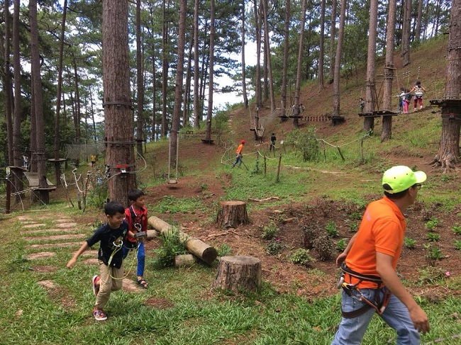 cac-tro-choi-tai- Datanla-High-Rope-Course