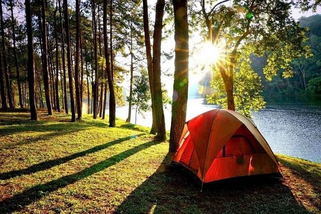 cắm trại Hồ Đồng Chanh