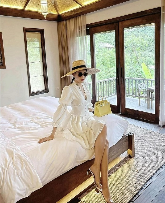 Huyền Mi check in resort sang chảnh giữa thiên nhiên ở Hòa Bình