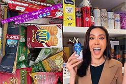 """Giãn cách tại nhà, Minh Tú sắm cả tủ đồ ăn trông như siêu thị mini, giấc mơ của những """"chiếc bụng đói"""" là đây chứ đâu!"""