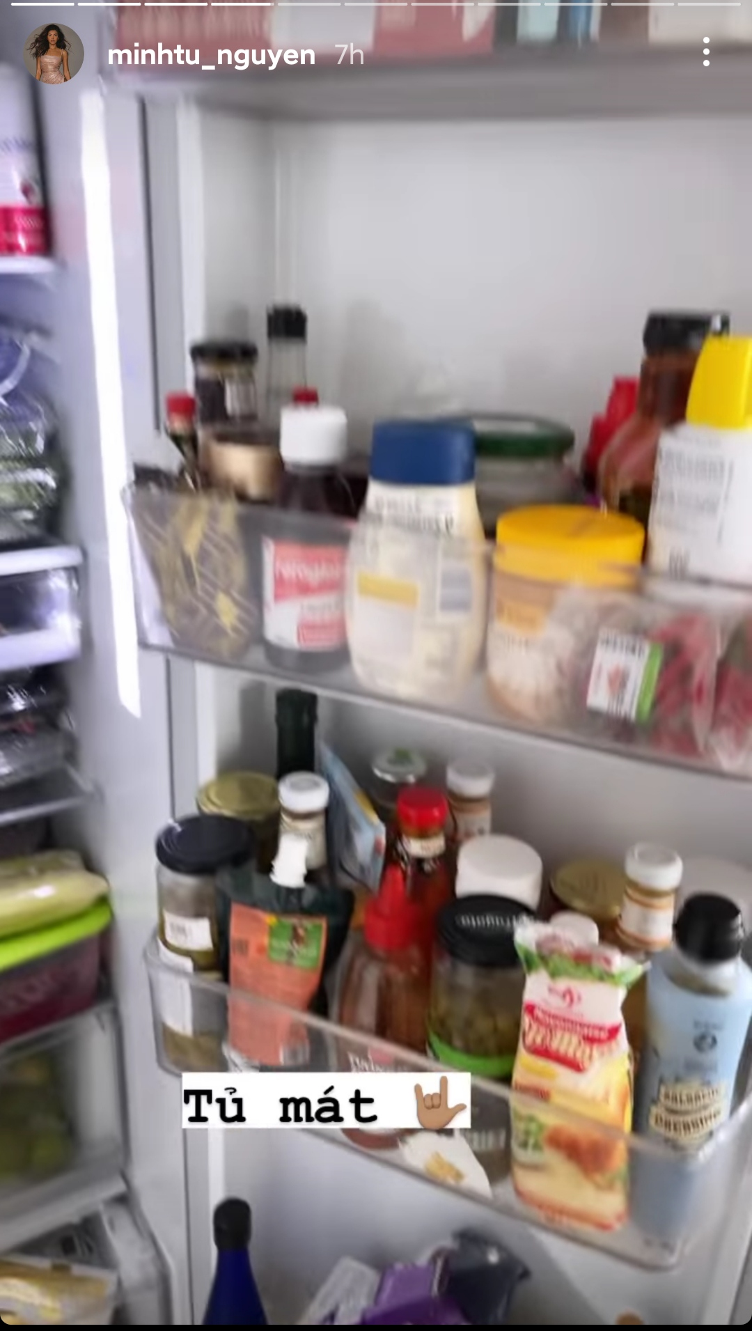 tủ lạnh của Minh Tú trong mùa dịch