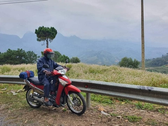 lão nông U60 Đồng Nai 4 lần xuyên Việt bằng xe máy