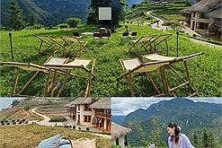 """""""Movie and chill"""" với rạp chiếu phim ngoài trời Bamboo Cinema có 1-0-2 của khu du lịch Sapa Topas Ecolodge"""
