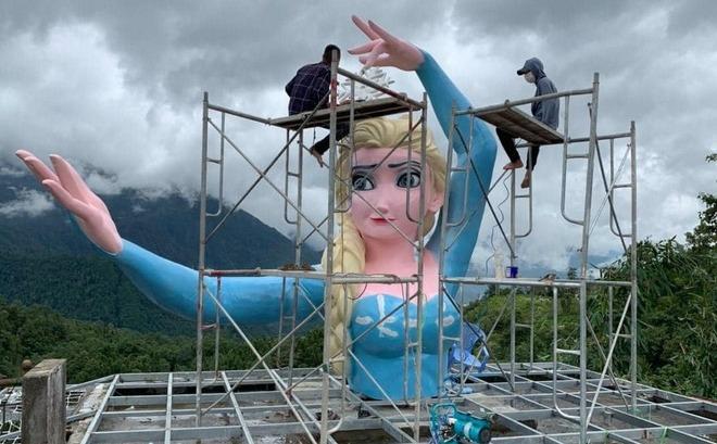 tượng nữ hoàng băng giá ở Sa Pa gây phẫn nộ cộng đồng mạng