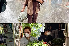 MC Đại Nghĩa bất chấp mưa gió thực hiện lời thỉnh cầu của fan dành cho người bố bán vé số mắc kẹt ở Sài Gòn