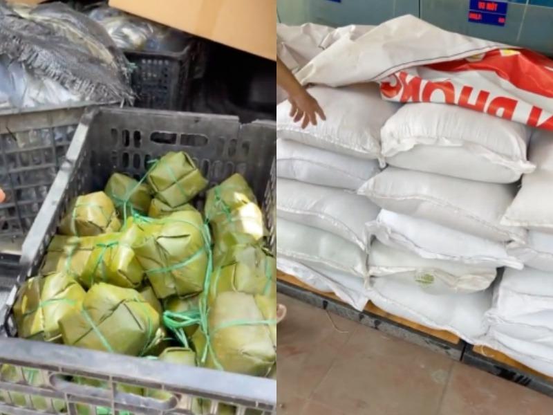 MC Quyền Linh chuẩn bị 2 tấn gạo cùng 3500 chiếc bánh chưng